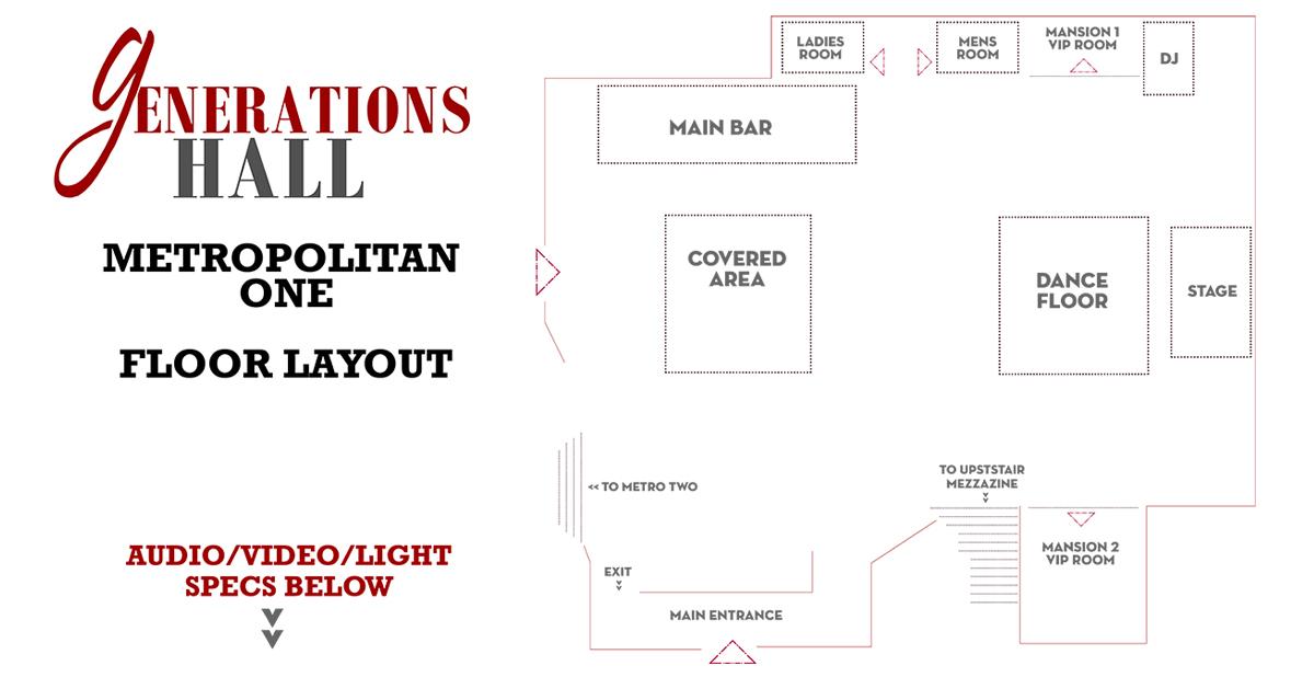 New Orleans Event Venue Floorplan